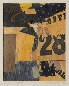 Das große Ich-Bild Kurt Schwitters Kunstpostkarte