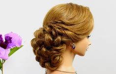Updo hairstyles. Wedding prom hairstyles for long hair. Bridal hairstyles