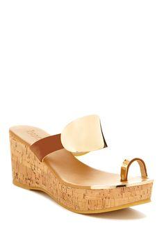 Carmine Platform Wedge Sandal by Bucco on @HauteLook