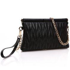 Genuine Leather Women Clutch Bags Purse Organizer Evening Party Handbags shoulder purse female chain mini bag sheepskin fold bag