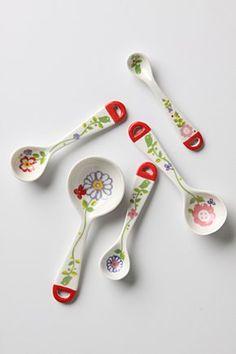 Extra Ingredients Measuring Spoons | Anthropologie.eu  Yes please.