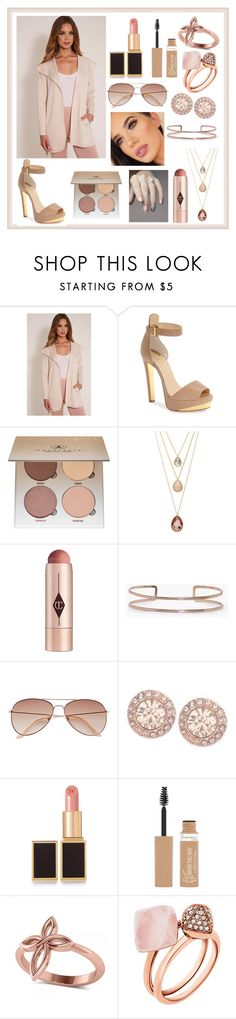 """A true beauty in beige"" by liacarolina02 ❤ liked on Polyvore featuring Christian Louboutin, Badura, Anastasia Beverly Hills, Forever 21, Charlotte Tilbury, Boohoo, H&M, Givenchy, Tom Ford and Rimmel"