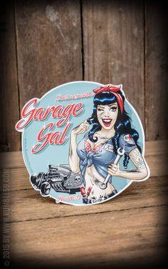 Rumble59 - Aufkleber Garage Gal