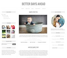 Download Better Days Ahead Blogger Template II . 3 column layout.