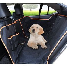 Extremely Efficient In Preserving Heat Durable Pet Back Seat Cover Waterproof Scratchproof Pet Protector Pet Seat Cover Hammock For Cars black