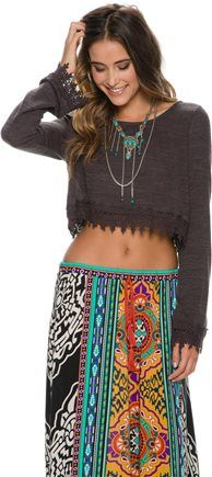 Boho cropped knit L/S.  http://www.swell.com/New-Arrivals-Womens/SWELL-HALF-OFF-CROPPED-LS-KNIT?cs=BR