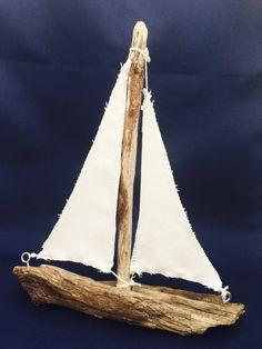 Driftwood Sailboat by MarineBlueHandmade on Etsy