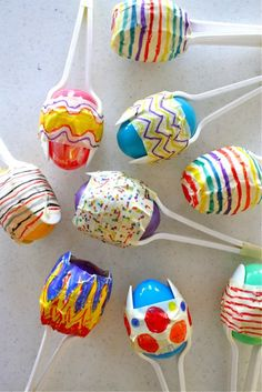 Maracas from plastic Easter eggs