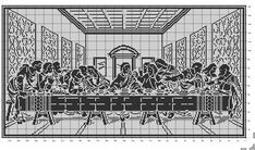 The Last Supper - Filet crochet   Ive been searching for this for a long time!