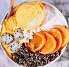 Orangen-Mango-Nicecream