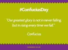 This #ConfuciusDay, be encouraged that you CAN overcome your cravings and reach your goals. http://www.eatwater.co.uk/