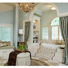 "@decor_'s photo: ""#bath #bathroom #room #royal #luxury #interior #design #interiordesign #blue #tub #home #decor #homedecor #decoration"""