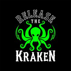 Release The Kraken Art Print by Brogress Project - X-Small The Cracken, Kraken Art, Release The Kraken, American Flag Art, Smile And Wave, Thing 1, Poster Prints, Art Prints, Pirates Of The Caribbean