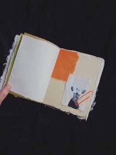 Aesthetic notebook art journal handmade small junk journal image 7 Notebook Art, Bullet Journal Notebook, Journal Paper, Junk Journal, Journal Inspiration, Journal Ideas, Craft Tutorials, Diy Projects, Cool Notebooks