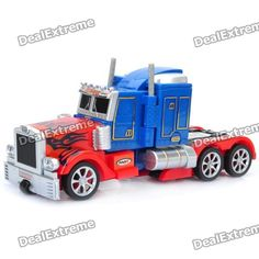 Stylish Transformation Robot Four Channel Remote Control Truck   Blue +  Red. Color: Blue