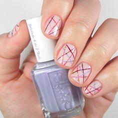 Colorful Lines Nail Art | Geometric Nails | Essie