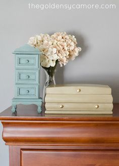 Updated jewelry boxes using ASCP in Provence and Versailles by The Golden Sycamore.