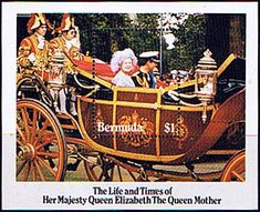 Bermuda Queen Mother Life and Times Miniature Sheet Fine Mint SG MS 498 Scott 472a Queen Mothers 85th Birthday Other Bermuda Stamps HERE