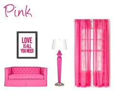 """""""Pink"""" by lillieshade on Polyvore featuring interior, interiors, interior design, home, home decor, interior decorating, Americanflat and CHF"""