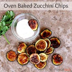 These crunchy, flavorful oven baked zucchini chips are healthy and delicious! #zucchini #health #allnatural