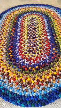 Sample of custom-braided wool rug  choose your by BraidinMaiden