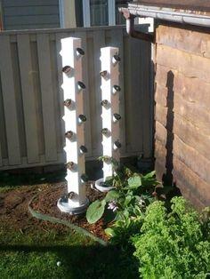 vinyl fence post hydroponic vertical garden - Google Search