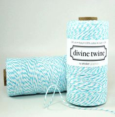I love this twine......comes in all colors....my fav is cotton candy (pink)