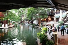San Antonio's Riverwalk is lined with shops and restaurants. Image by Pat David / CC BY-SA 2.0
