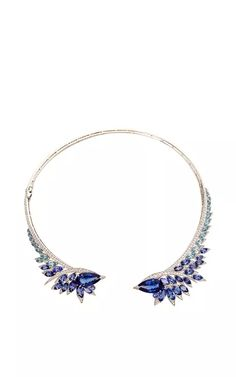 Tanzanite Plumage Necklace by Stephen Webster for Preorder on Moda Operandi