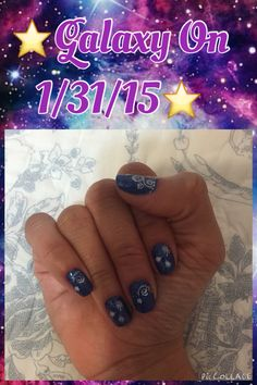 ⭐️Galaxy On 1/31/15⭐️ Base Coat: American Classic Gelous Nail Gel Base Coat Nail Polish Nail Polish 1: Essie Nail Color, Encrusted Treasures Lots Of Lux  Nail Polish 2: e.l.f. 4 Piece Nail Polish Set, Bright, 0.609 Ounce Nail Polish 3: Sally Hansen Hard As Nails Color Hard to Get - 0.45 Oz, Pack of 2  Top Coat: Seche Vite Dry Fast Top Nail Coat, 0.5 Ounce Salon Express SHANY 2012 Nail Art Polish Stamp Manicure Image Plates set of 25pcs