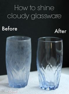 Get cloudy glasses looking clear and beautiful! It's easy and cheap!