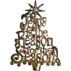 Jesus is the Reason for the Season Christmas Tree Pin ~ Book Piece