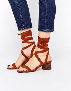 Image 1 ofASOS TESSA Lace Up Heeled Sandals