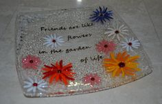 Friends are like flowers in the garden of life glass by YafitGlass