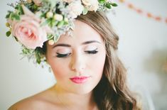 Makeup tips and advice from Blissful Makeup for brides who will be wearing a flower crown on their wedding day | Seven Silver Swans Photography | see more on: http://burnettsboards.com/2014/06/makeup-match-flower-crown/