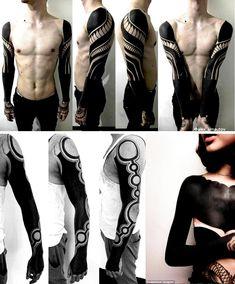 TEDENCIA BLACKOUT TATTOOS >> Ejemplos de blackout tattoos #coolhunting #magazine