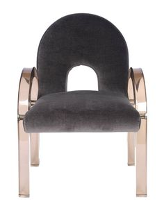 """Set of Ten 1970s Charles Hollis Jones Smoked Lucite """"Arch"""" Dining Chairs For Sale at 1stdibs"""