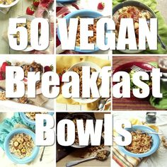 Hot cereal, cold cereal, smoothie bowls, and lots more, this scrumptious collection includes no less than 50 vegan breakfast bowls!