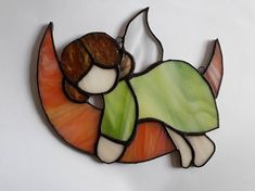 Stained Glass Angle. Look great hanged on the window. 16cm x 16cm