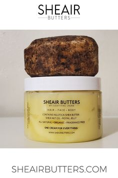 Shop Sheair Butters, makers of the popular 'My Everything Cream' and 'Liquid Body Butter,' made with pure Nilotica Shea Butter, Shea Nut Oil and Royal Jelly. Body Butter, Shea Butter, Royal Jelly, African Black Soap, My Everything, Skincare Routine, Baking Ingredients, Night Time, Face And Body