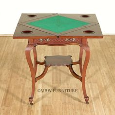 Antique Mahogany Expandable Recreational Card Game Table England C1910  #Traditional