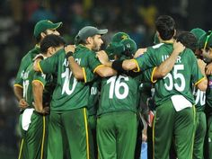 Team Green after winning against Australia in World T20, super eight match at Colombo 2 Oct 2012