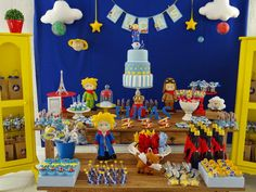 The Litlle Prince Birthday Party Ideas Little Prince Party, Baby Prince, The Little Prince, Prince Birthday Party, Boy Birthday Parties, Baby Birthday, Baby Party, Baby Boy Shower, First Birthdays