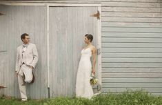Real Wedding: Denise + Dave's Sweet Backyard Wedding