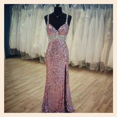 Stunning full sequined #prom dress