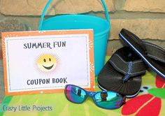 Crazy Little Projects--make a coupon book for local things to do during the summer.  Kiddos can pick one coupon per week.  Examples:  picnic in the park, movie and popcorn at home and invite 3 friends, ice cream at a local restaurant, etc.