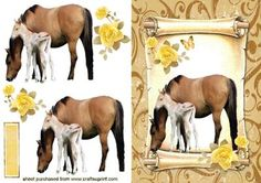 MUM BABY FOAL ON A SCROLL on Craftsuprint - Add To Basket!