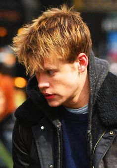 Chord Overstreet on set for Glee in NYC