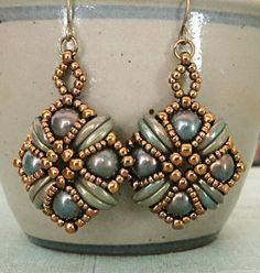 Linda's Crafty Inspirations: Tara Earrings - Oxidized Bronze
