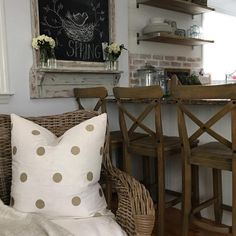 """""""When your decor is on point! (: @nottooshabbymama) #polkadots #MakeHomeYours"""""""